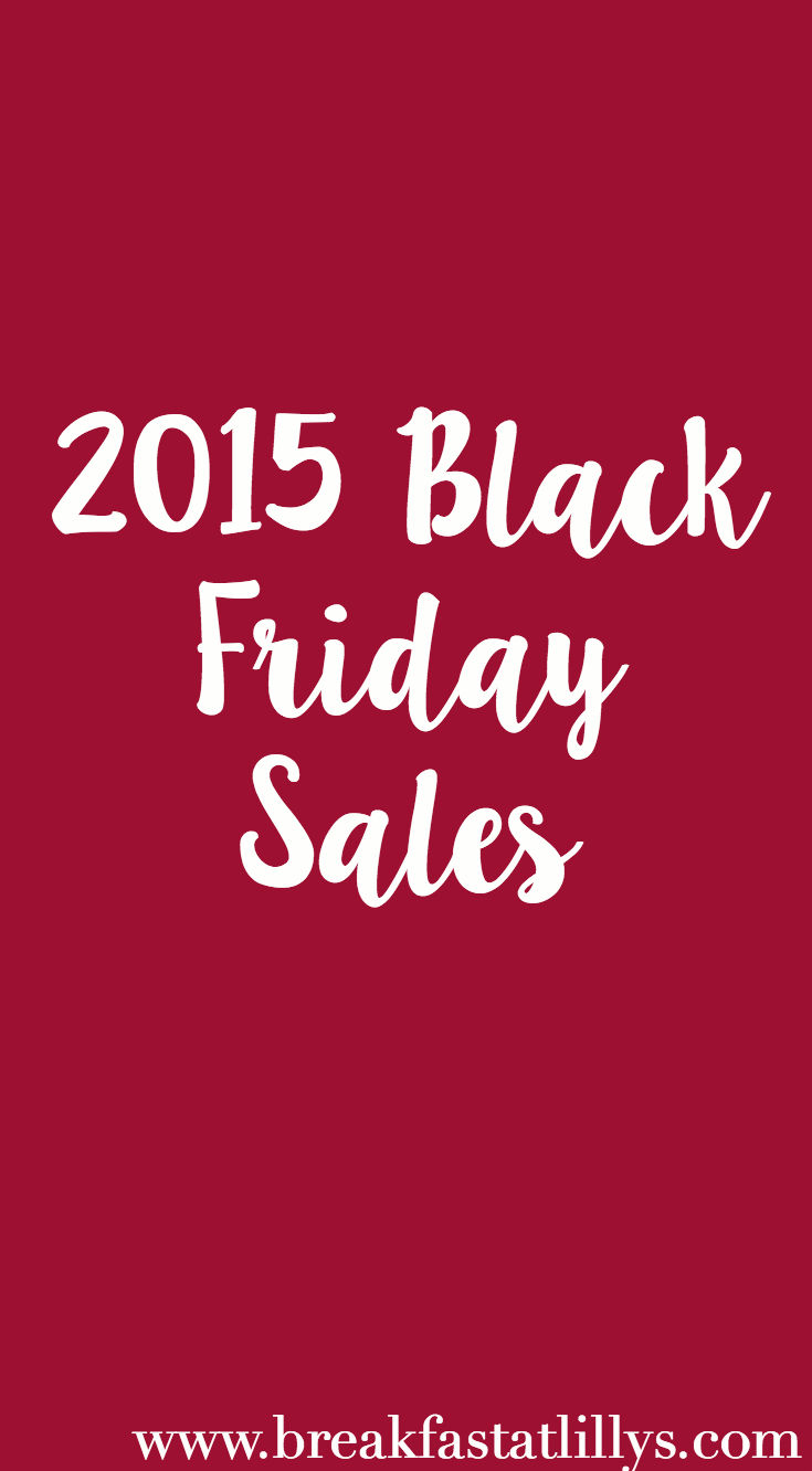 2015 Black Friday Sales