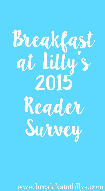 2015 Reader Survey + Giveaway