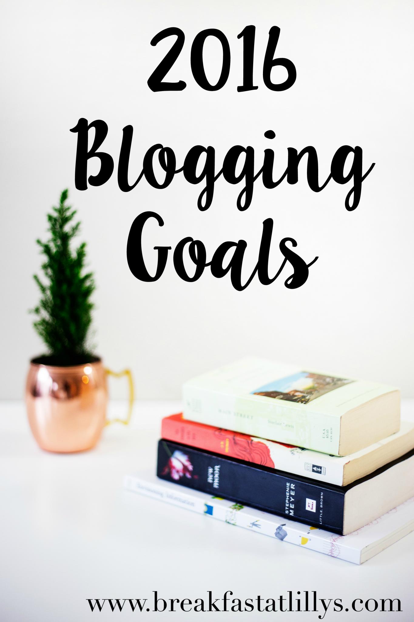 2016 Blogging Goals
