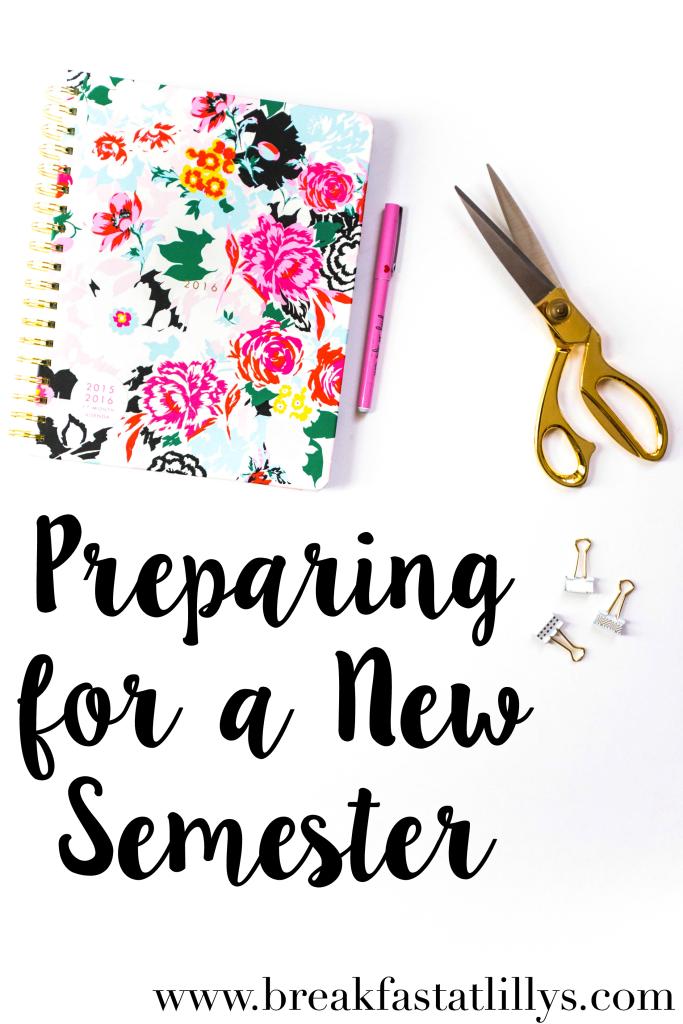 Preparing for a New Semester