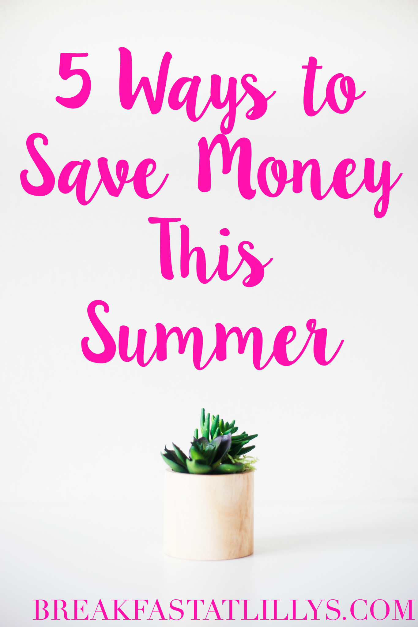 5 Ways to Save Money This Summer