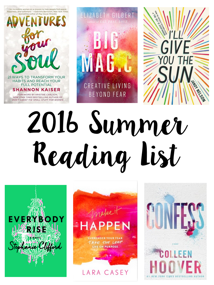 2016 Summer Reading List