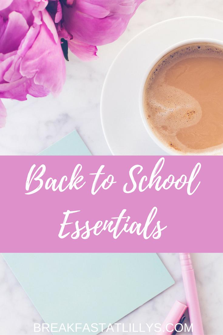 Back to School Essentials for Grad School