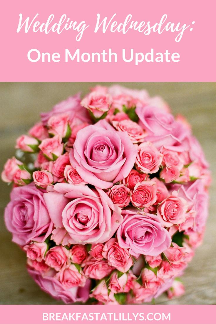 Wedding Wednesday: One Month Update